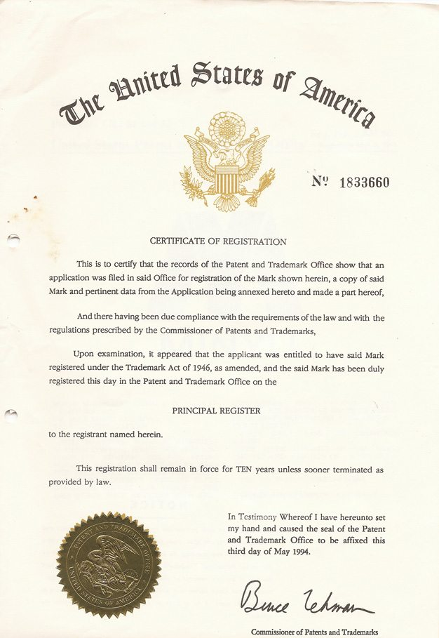 Minyu Machinery Corp. USA Certificate of Registration
