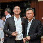 William Cheng and Mingyih Cheng of Minyu Machinery Corp at Minyu's 50th anniversary party during Conexpo/Con-agg 2017 in Las Vegas, Nevada.