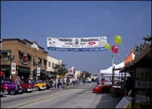 Citrus Ave in Downtown Covina during Thunderfest Car And Music Festival
