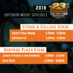 2018 Thunderfest: Outdoor Music Schedule